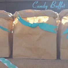 Brown paper popcorn packets by www.candybuffetsa.co.za