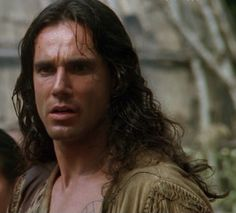 Daniel Day Lewis in the Last of the Mohicans.  The opening scene, running through the forest in a loin cloth.  I nearly got thrown out of the theater for whimpering so loudly.