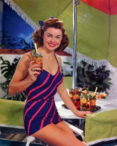 Esther Williams photographed by Paul Hesse for a Lipton iced tea ad, 1948