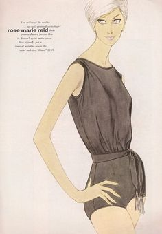 Vintage Rose Marie Reid swimwear ad, 1963