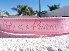 Disney Dog Collar Pink Princess 1 width Quick by fairytailcollars