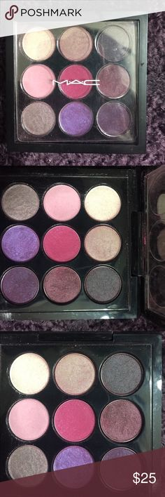 Mac palette Barely used, selling because I never use it. Beautiful, vibrant colors. MAC Cosmetics Makeup Eyeshadow