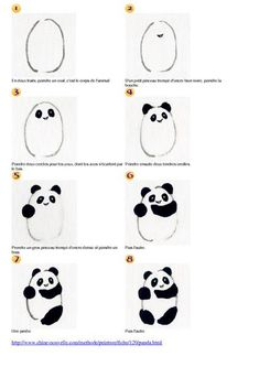 how to draw a panda – 'Or' What rnrnSource by Panda Drawing, Drawing For Kids, Art For Kids, Chinese Drawings, Easy Drawings, Draw Chibi, Rock Crafts, Step By Step Drawing, Sketch Design