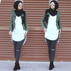 68 beautiful trend hijab style ideas 2017 hijab tips Hajib Fashion, Modern Hijab Fashion, Street Hijab Fashion, Islamic Fashion, Muslim Fashion, Modest Fashion, Fashion Outfits, Hijab Casual, Casual Chic