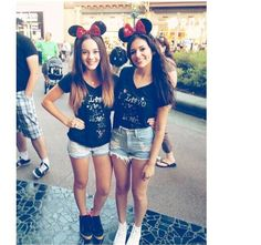 Love the high waisted shorts with Minnie ears