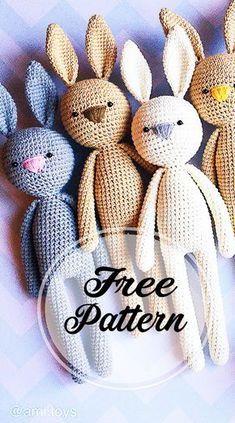 Bunny Crochet, Crochet Bear Patterns, Kawaii Crochet, Easter Crochet, Crochet Motif, Crochet For Kids, Crochet Designs, Crochet Gifts, Diy Crochet