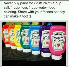 Homemade paint.