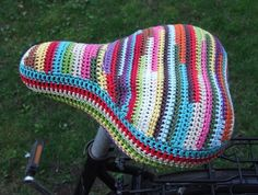 Crochet Bicycle Seat Cover