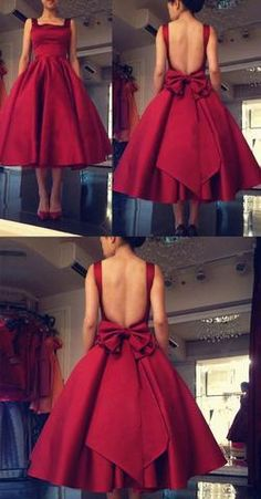 Cheap Homecoming Dress,Burgundy Homecoming Dresses,Tea Length Prom Dress,A Line Homecoming Dress,Bac on Luulla