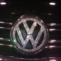 Loving this bling VW badge! www.cardeck.co.uk