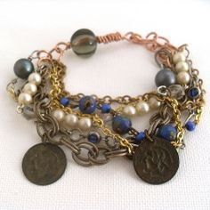 bracelet-mixed media vintage upcycled | Flickr – Condivisione di foto!