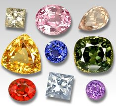 COLOURS of SAPPHIRE GEMSTONES: yellow, green. purple, white, blue, orange and the rare red padparadsha. Sapphires are the second hardest crystal that Mother Earth has given us; second only to the Diamond, measuring 9 on the hardness scale.