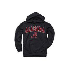 Alabama Crimson Tide Black Perennial II Hooded Sweatshirt (46 CAD) ❤ liked on Polyvore featuring tops, hoodies, sweatshirts, shirts, sweaters, black sweat shirt, black hoodie sweatshirt, hoodie sweatshirts, sweatshirts hoodies and black shirt