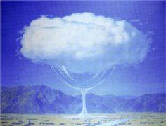 Minarelere takılan bulutların sarhoş olduklarını şairler    söylediler Son Yerine (İstanbul) [Rene Magritte, The heartstrings, 1960]
