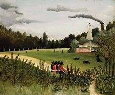 Henri Rousseau — Park with Figures, Henri RousseauMedium: oil on...