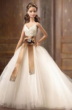 I want a Barbie doll dressed like me for my wedding day.