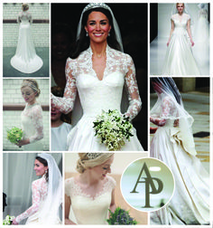 We don't think this dress will ever go out of style. Try on a dress like Duchess Kate's at Anne Priscilla Bridal.