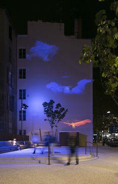 Otto lilienthal - Projection lumineuse, Annonay, France - Conception lumière : Acte Lumière