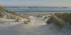 """Daybreak, Farewell Spit"" ◊ artist Peter Geen ◊ New Zealand landscape seascape paintings"