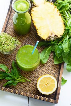 Pineapple Sprout Glowing Green Smoothie Recipe