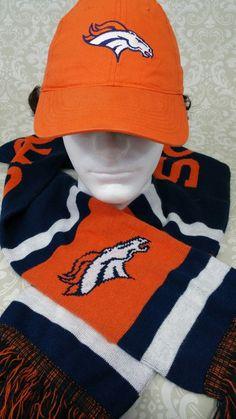 63416f520fd Hats   Caps · Denver Broncos Grease monkey orange hat + Broncos scarf NFL  Team pre-owned  Unbranded