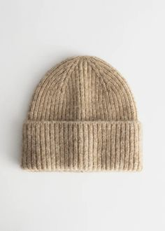 Wool alpaca blend beanie in a chunky ribbed knitted finish with a luxurious fluffy texture. Cute Beanies, Warm Outfits, Fashion Story, Ladies Fashion, Jeans And Boots, Women's Accessories, Wool Blend, Knitted Hats, Knitting Patterns