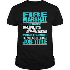 FIRE MARSHAL T Shirts, Hoodies. Get it now ==► https://www.sunfrog.com/LifeStyle/FIRE-MARSHAL-110466763-Black-Guys.html?41382 $22.99