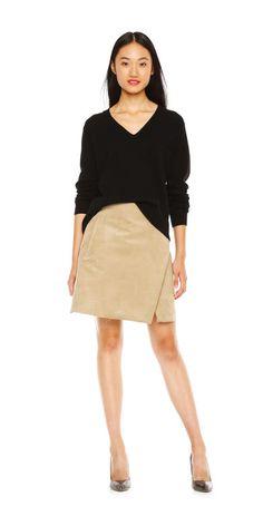 Sueded Wrap Skirt from Joe Fresh, $59