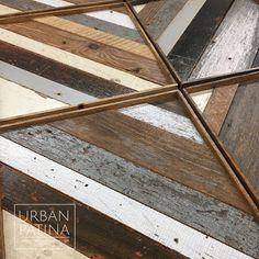 Urban Patina: Reclaimed wood wall art