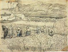 Women Working in Wheat Field, 1890 Vincent van Gogh