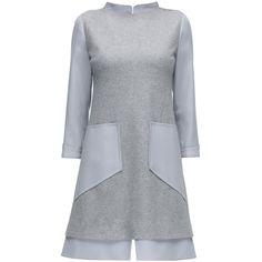 LATTORI Grey Magnetism, Three Quarter Sleeve Dress (17.550 RUB) ❤ liked on Polyvore featuring dresses, dress gray, three quarter dresses, 3 4 sleeve formal dresses, gray formal dresses, formal wear dresses and 3 4 length sleeve dress