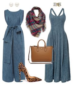 """Sophisticated Denim!"" by la-harrell-styling-co on Polyvore featuring Brock Collection, Isa Arfen, Venus, Christian Louboutin, Tory Burch and Tiffany & Co."