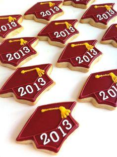 Graduation Cap Cookies 1 dozen by SunshineBakes on Etsy
