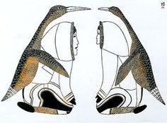 "Katajuk"" - Stone cut print, 1978, by Kakulu"