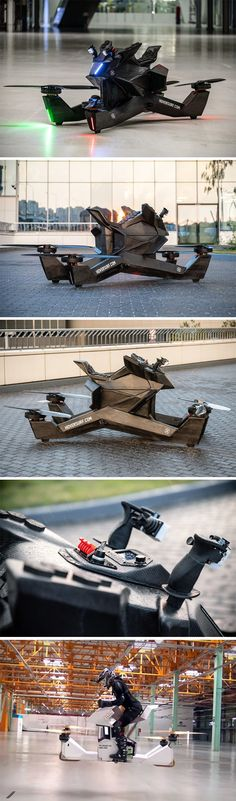 The Hoversurf is a massive drone you can sit on! Electric Car Conversion, Hover Bike, Mobile Models, Future Transportation, Future Gadgets, Flying Car, Mercedes Car, Futuristic Technology, Rc Model