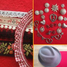 Just bought the pretzel and Edelweiss buttons.and the red trim. Munich Oktoberfest, Oktoberfest Outfit, Oktoberfest Party, Oktoberfest Clothing, German Festival, German Tattoo, German Outfit, Alpine Style, Diy Accessoires