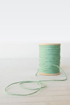 Mint green solid baker's twine from Olive Manna.