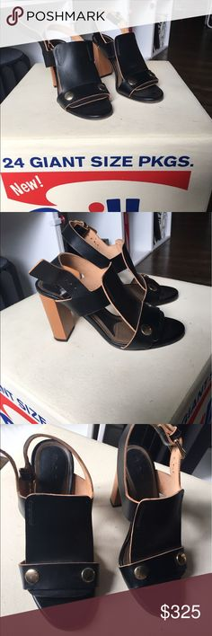 MARNI HEELED SANDALS IN GREAT CONDITIONS Marni leather sandals only worn once! (Size too small to fit me). Size 38 european Marni Shoes Sandals