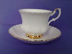 Royal Albert Val D'Or Bone China England Teacup and Saucer by Whitepearlfinds on Etsy https://www.etsy.com/ca/listing/478697600/royal-albert-val-dor-bone-china-england