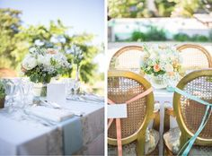 Toile de jouy  white wood and gold wedding - french château wedding © Bubblerock  - So Lovely moments