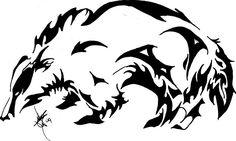 Tribal Badger by EuphoriaPeace on deviantART All Tattoos, Tribal Tattoos, Tatoos, Bear Tattoos, Woodworking Shows, Woodworking Logo, Badger Tattoo, 4 Elements, Papa Legba