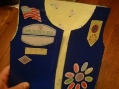 My finished Daisy Girl Scout vest scrapbook!!