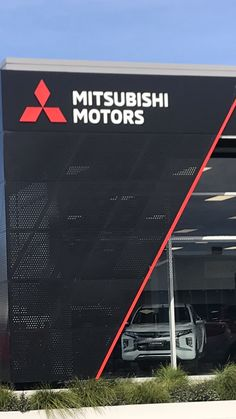 Installer - Sharp Signs used Locker powdercoated perforated panels to a great effect in Waikato NZ. #lockergroup #powdercoated #perforated #sharpsigns Used Lockers, Mitsubishi Motors, Powder Coating, Group, Signs, Shop Signs, Sign