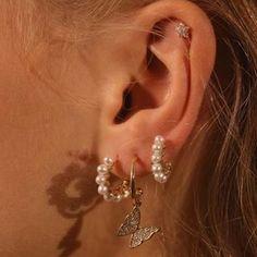 Pretty Ear Piercings, Ear Piercings Chart, Piercing Chart, Piercing Ideas, Tongue Piercings, Cartilage Piercings, Rook Piercing, Barbell Piercing, Ear Jewelry