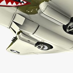 3d curtiss p 40 warhawk fighter model