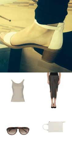 classic white sandals outfit  #style #fashion #streetstyle #rickowens #tommyhilfiger #jillsander #jonofui