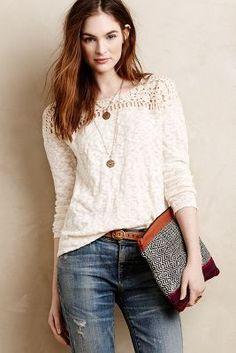 d009b77627fad Kellen Crochet Pullover by Meadow Rue on HeartThis