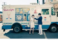 Ice Cream Trucks, and the ice cream was only about .25 - 50 cents!!