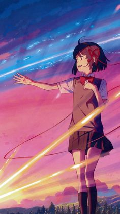 Kimi no Na wa Wallpaper Animes, Animes Wallpapers, Cute Wallpapers, Trendy Wallpaper, Iphone Wallpaper, Your Name Wallpaper, Couple Wallpaper, Anime Love Couple, Cute Anime Couples