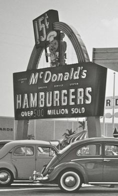 Hungry Bug....We had a Volkswagon in the early sixties, and my two little boys favorite place to go was McDonalds.